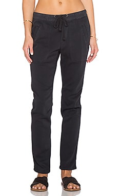 James Perse Soft Drape Utility Pant in Carbon