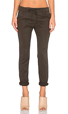 James Perse Supersoft Gabardine Pull On Pant in Cypress