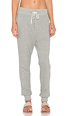 James Perse Slouchy Sweatpant in Heather Grey