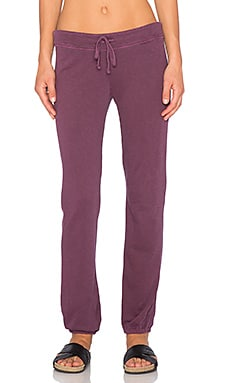 James Perse Genie Sweatpant in Pinot