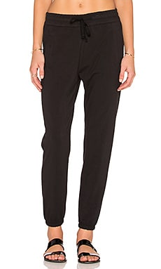 James Perse Clean Sweatpant in True Black