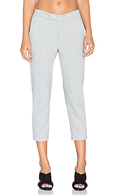 Slim Cropped Trouser in Heather Grey