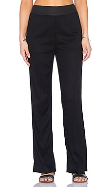 James Perse Elastic Waist Pant in Black