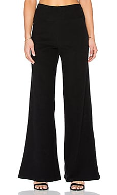 James Perse Wide Leg Sweatpant in Black