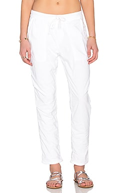 James Perse Jersey Lined Pull On Pant in White
