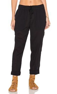 James Perse Pull On Beach Pant in Black