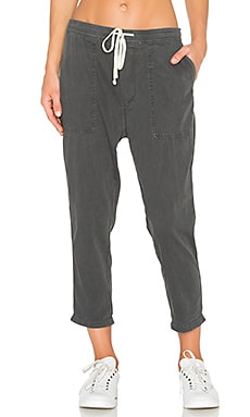 James Perse Relaxed Twill Pant in Carbon