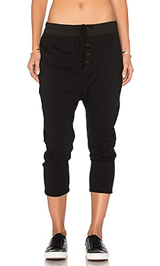 Slouchy Collage Sweatpant in Black