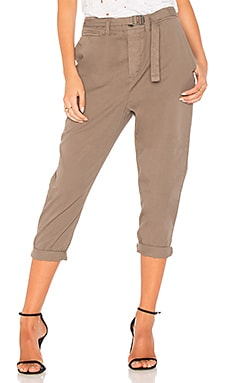 Belt Front Voluminous Pant