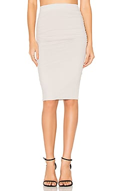 Shirring Pencil Skirt in Talc