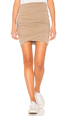 High Waist Wrap Skirt James Perse $158