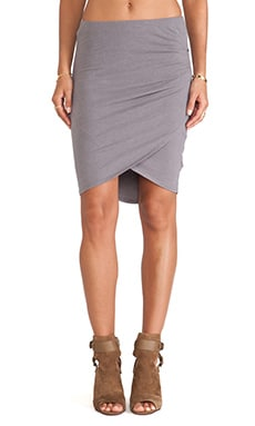 James Perse Tulip Hem Skirt in Quarry