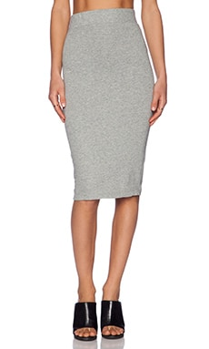 James Perse Classic Fleece Skirt in Heather Grey