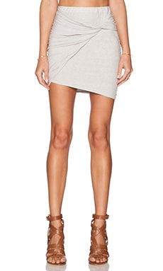 James Perse Twisted Mini Skirt in Silver