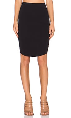 James Perse Tulip Back Skirt in Black