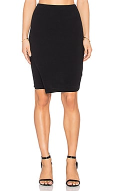 James Perse Tuck Wrap Skirt in Black
