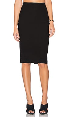 James Perse Tailored Knit Skirt in Black