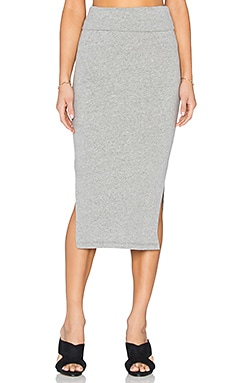 James Perse Double Split Skirt in Heather Grey