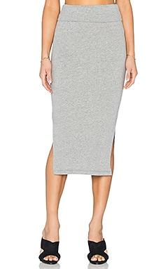 James Perse Double Split Skirt in Heather Grey