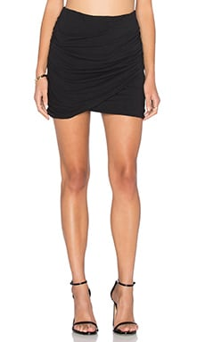 Wrap Skinny Skirt in Black