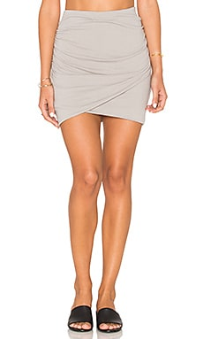 James Perse Wrap Skinny Skirt in Dapple