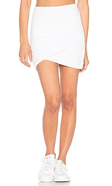 Wrap Skinny Skirt in White