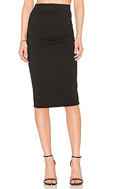 Shirring Pencil Skirt in Black