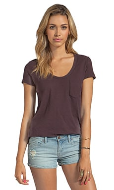 James Perse Sheer Slub Boyfriend Tee in Joplin