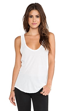 James Perse High Hauge Jersey Tank in White