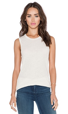 James Perse Inside Out Tomboy Tank in Ceramic