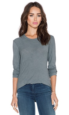 James Perse Long Sleeve Tee in Cartridge