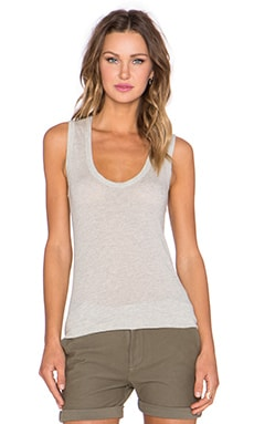 James Perse Narrow Scoop Neck Tank in Heather Grey