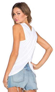 Wrap Back Tank in White