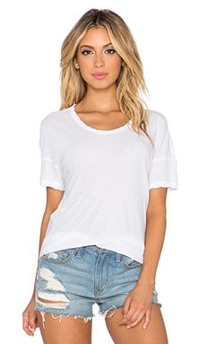 James Perse Drop Shoulder Tee in White