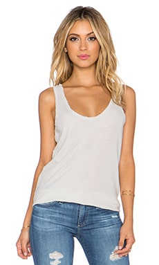 James Perse Curve Hem Tank in Silver