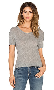 James Perse Drop Shoulder Tee in Heather Grey