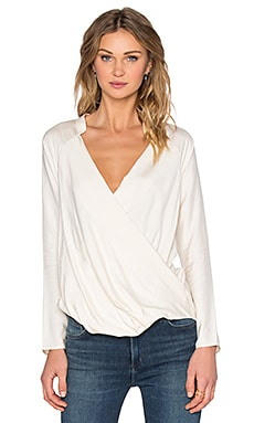 Wrap Raglan Top in Calico