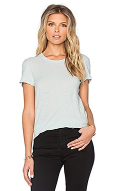 James Perse Sheer Slub Crewneck Tee in Lucite