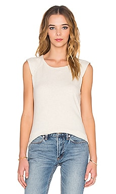 James Perse Raglan Shell Top in Heather Natural