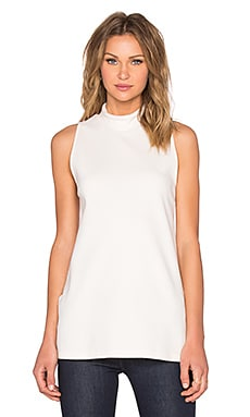 Sleeveless Split Hem Top in Marshmallow