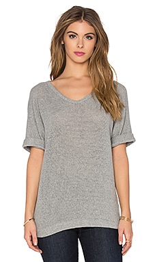 Knit Mesh Top in Heather Grey
