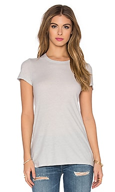 James Perse Textured Cationic Tee in Silver