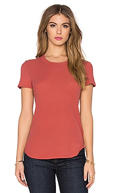 James Perse Sheer Slub Crewneck Tee in Sunstone