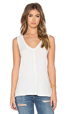 James Perse A-Line Viscose Blend Tank in Marsmallow