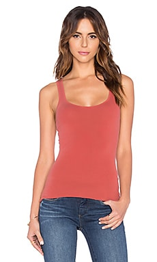 James Perse Long Tank in Sunstone