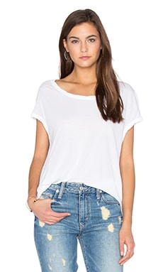 James Perse Circular Shell Top in White