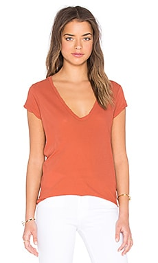 High Gauge Jersey Deep V Tee in Redrock