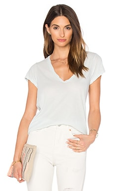 James Perse High Gauge Jersey Deep V Tee in Catmint