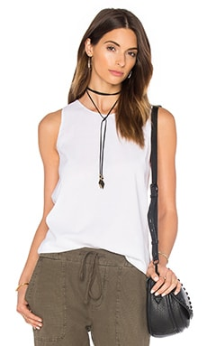 Wrap Back Tunic Top in Weiß