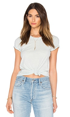 James Perse Sheer Slub Crew Neck Tee in Catmint